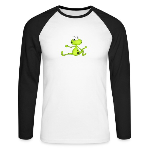Lustiger Frosch - Männer Baseballshirt langarm