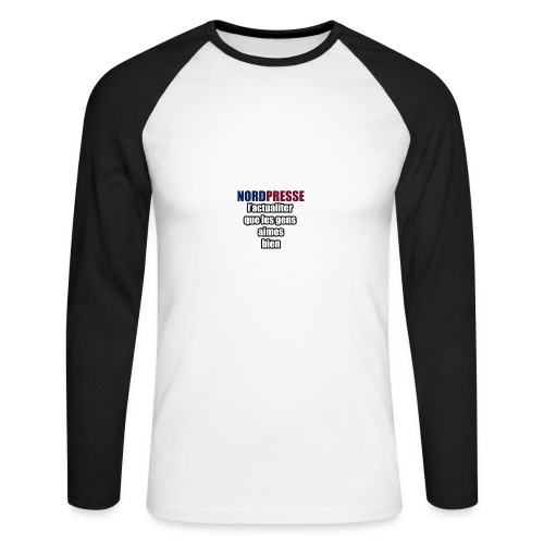 aime - T-shirt baseball manches longues Homme