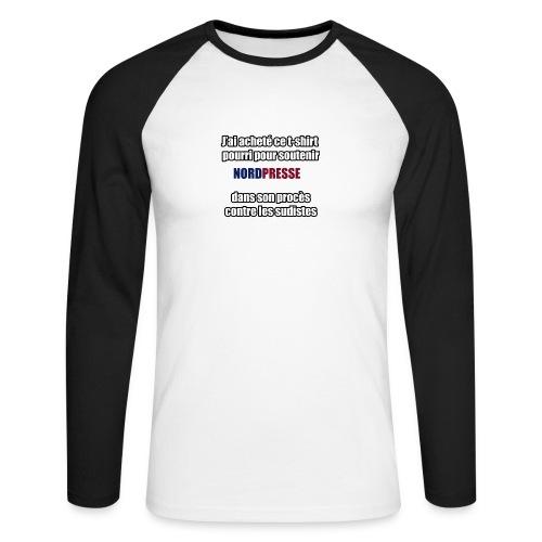 nordpresse - T-shirt baseball manches longues Homme