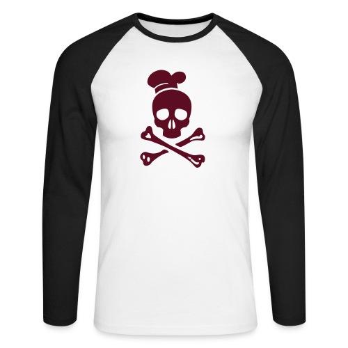 cannibal cook vector - Männer Baseballshirt langarm