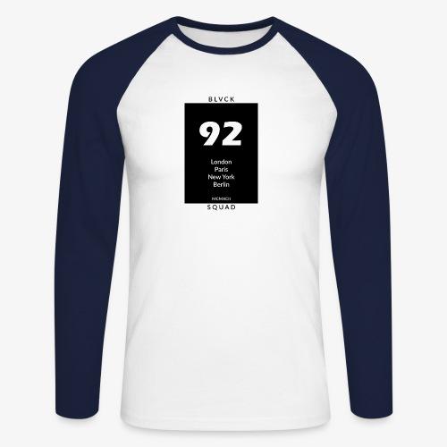 BLVCK SQUAD - Männer Baseballshirt langarm