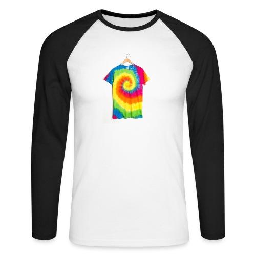 tie die small merch - Men's Long Sleeve Baseball T-Shirt