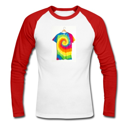 tie die small merch - Men's Long Sleeve Baseball T-Shirt