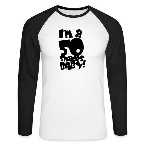 50 shades - Men's Long Sleeve Baseball T-Shirt