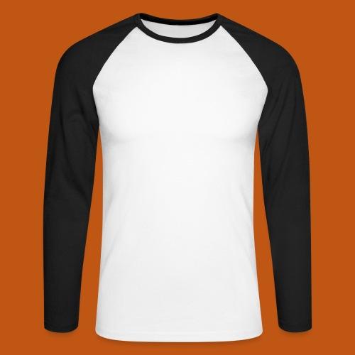 Skater / Skateboarder 03_weiß - Männer Baseballshirt langarm
