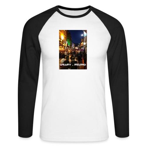 GALWAY IRELAND SHOP STREET - Men's Long Sleeve Baseball T-Shirt