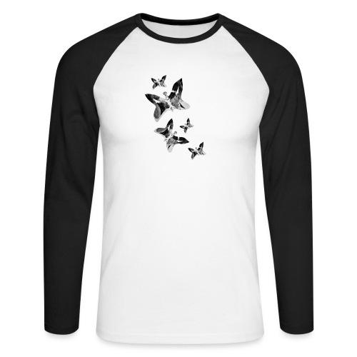 Schmetterlinge - Männer Baseballshirt langarm