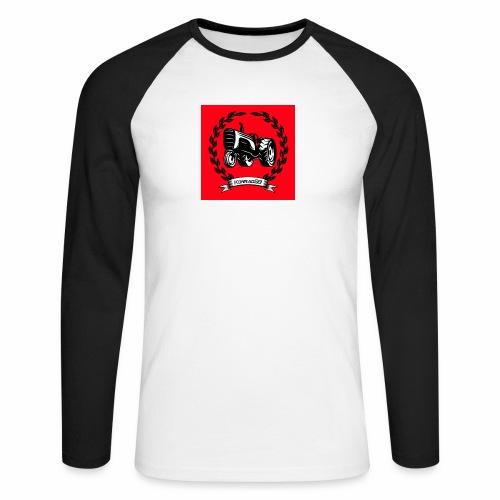 KonradSB czerwony - Koszulka męska bejsbolowa z długim rękawem