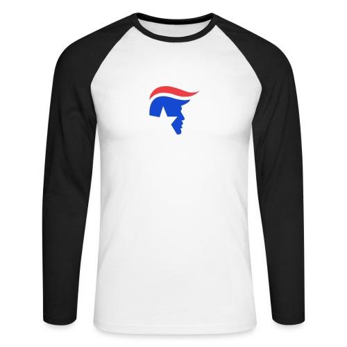 Trump Logo - Männer Baseballshirt langarm