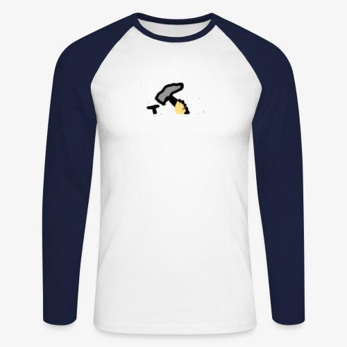 Mateba - Langærmet herre-baseballshirt