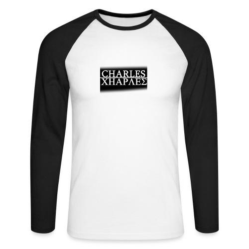 CHARLES CHARLES BLACK AND WHITE - Men's Long Sleeve Baseball T-Shirt