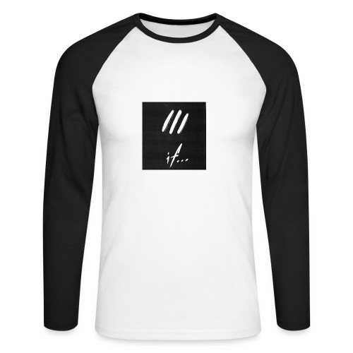 if... DeafboyOne DrumboyOne BassboyOne - Men's Long Sleeve Baseball T-Shirt