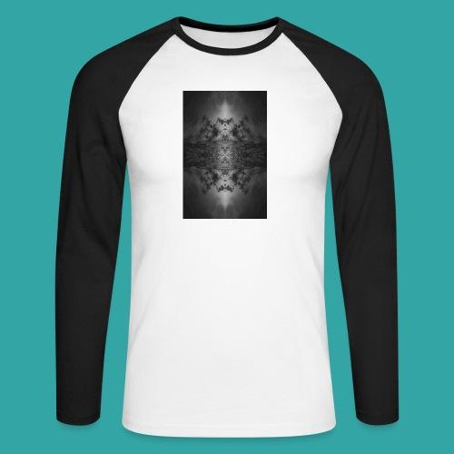 Foggy forest - Men's Long Sleeve Baseball T-Shirt