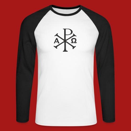 Kompasset-AP - Langærmet herre-baseballshirt