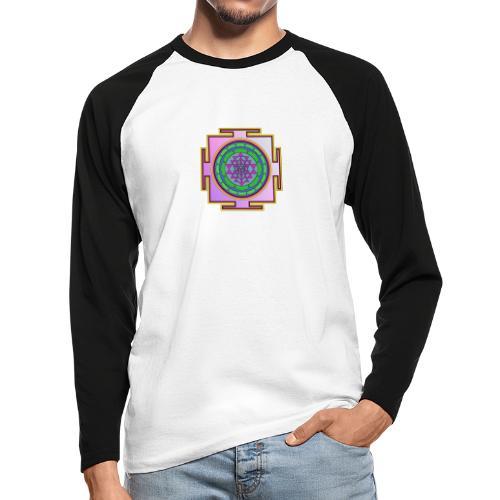 Géométrie sacrée mandala n°2 - T-shirt baseball manches longues Homme