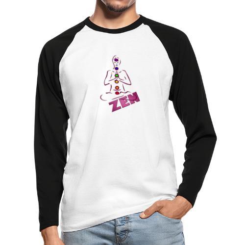 chakras zen - T-shirt baseball manches longues Homme