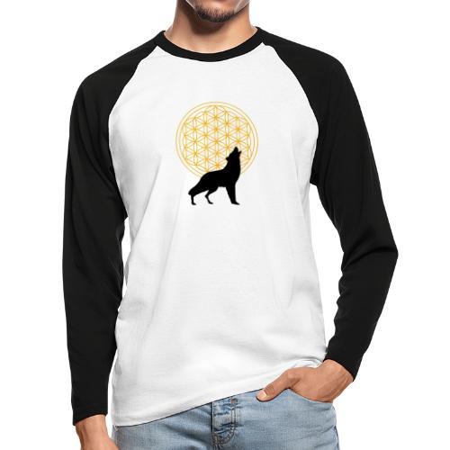 fleur de vie loup n°2 - T-shirt baseball manches longues Homme
