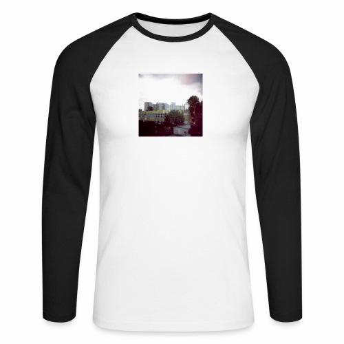Original Artist design * Blocks - Men's Long Sleeve Baseball T-Shirt