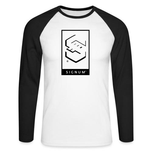 signumGamerLabelBW - Men's Long Sleeve Baseball T-Shirt