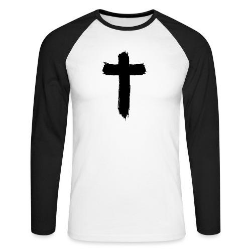Brushed-Cross - Männer Baseballshirt langarm