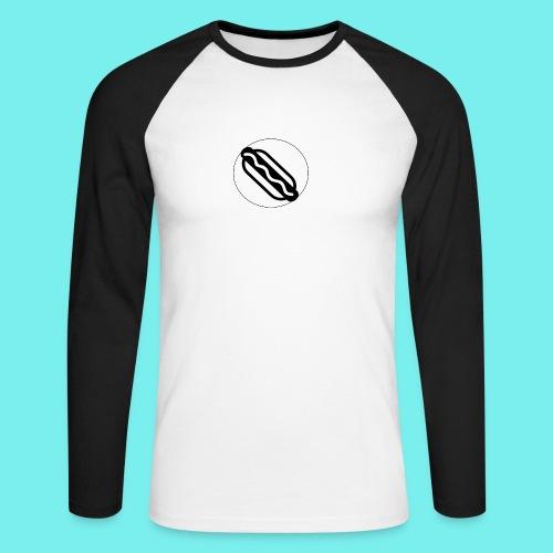 Hotdog logo - Langærmet herre-baseballshirt