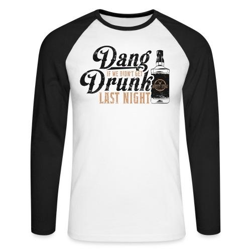 DangDrunk 01 png - Men's Long Sleeve Baseball T-Shirt