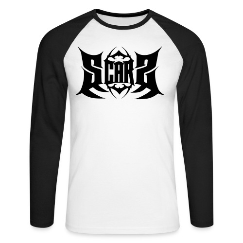 Scars logo white ai - Men's Long Sleeve Baseball T-Shirt