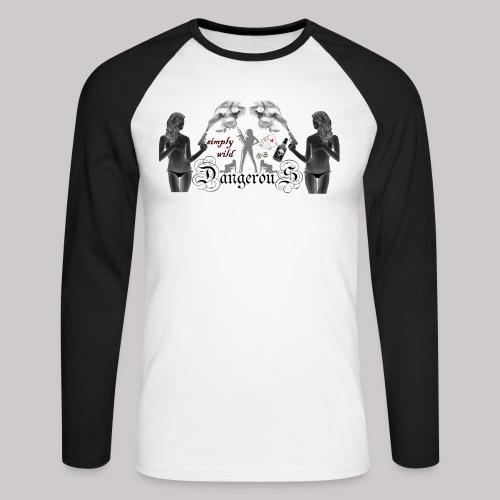 simply wild Dangerous on white - Männer Baseballshirt langarm