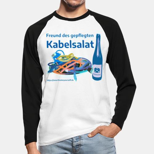 Freund des gepflegten Kabelsalat - Comic - Männer Baseballshirt langarm