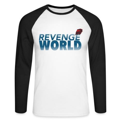 """"""" REVENGE WORLD """" ( CHOOSE WHITE - Långärmad basebolltröja herr"""