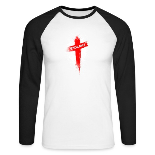 England Painted-Red - Men's Long Sleeve Baseball T-Shirt