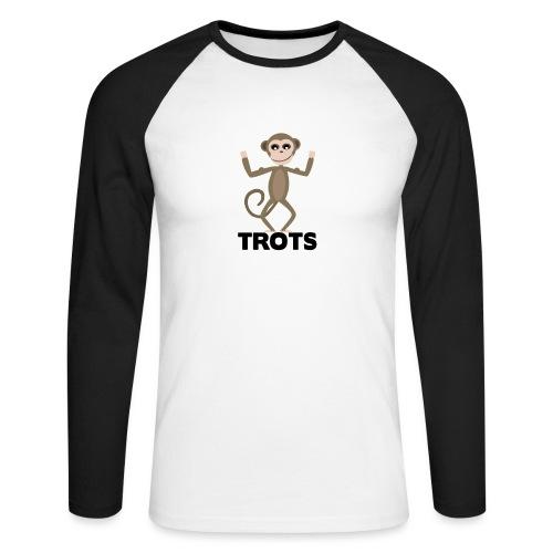 apetrots aapje wat trots is - Mannen baseballshirt lange mouw