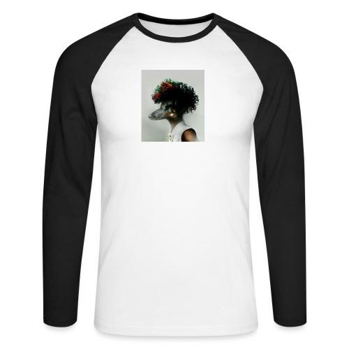 pini punk - Koszulka męska bejsbolowa z długim rękawem