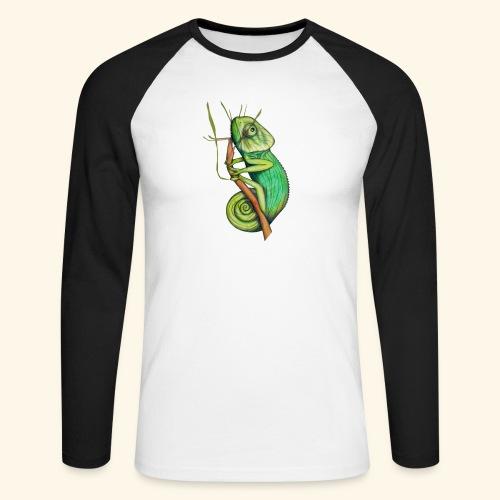 green chameleon - Maglia da baseball a manica lunga da uomo
