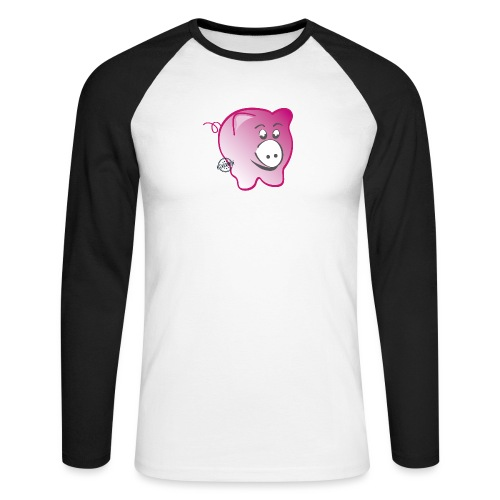 Pig - Symbols of Happiness - Men's Long Sleeve Baseball T-Shirt
