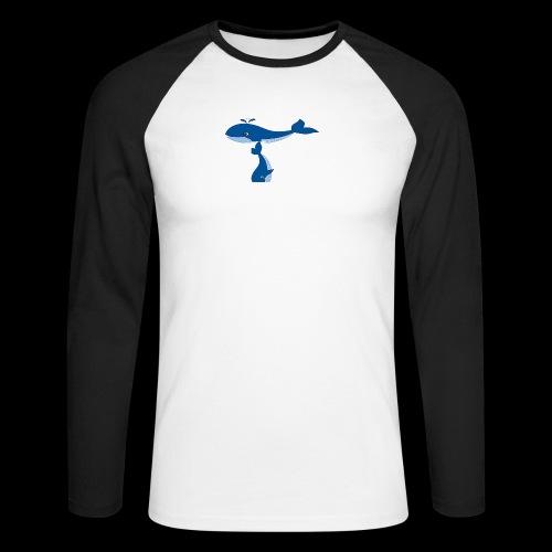 whale t - Men's Long Sleeve Baseball T-Shirt