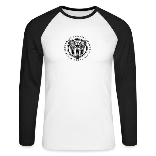 NWO, masoński symbol oka - Koszulka męska bejsbolowa z długim rękawem