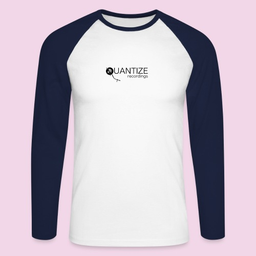 Quantize Black Logo - Men's Long Sleeve Baseball T-Shirt
