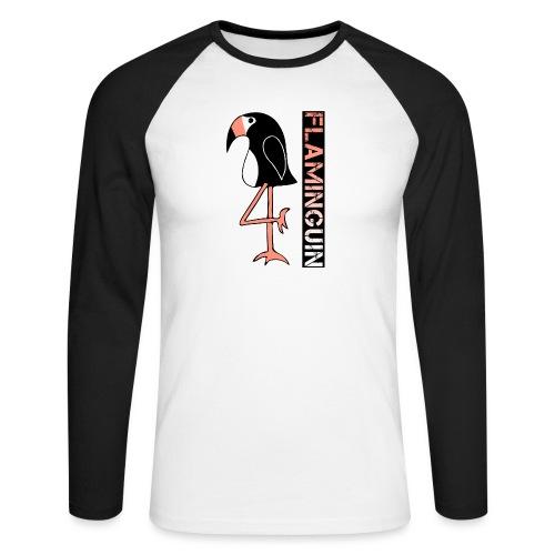 Pinguin Flamingo Flaminguin - Männer Baseballshirt langarm