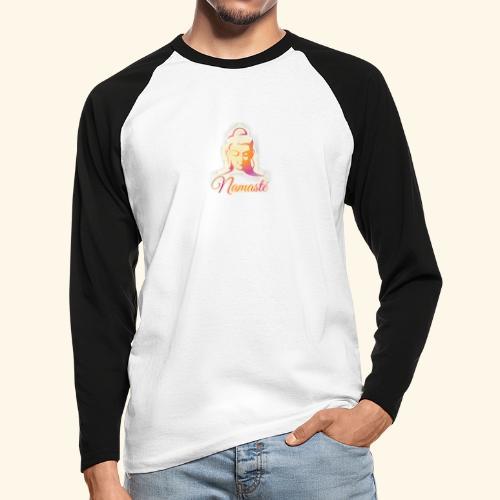 Buddha - Namasté - Männer Baseballshirt langarm