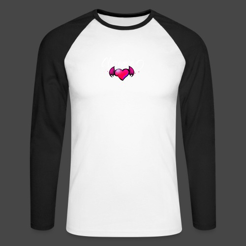 Logo and name - Men's Long Sleeve Baseball T-Shirt