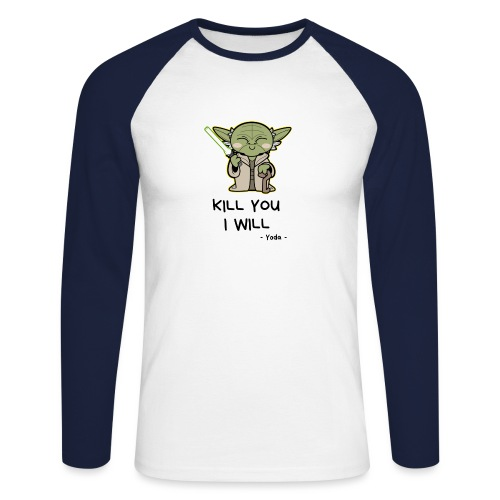 Kill you I will - Langærmet herre-baseballshirt