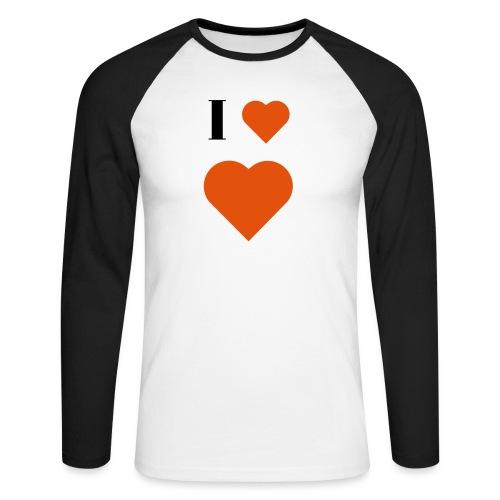 I Heart heart - Men's Long Sleeve Baseball T-Shirt