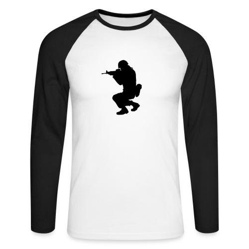 ist2 724967 soldier silhouette - Männer Baseballshirt langarm