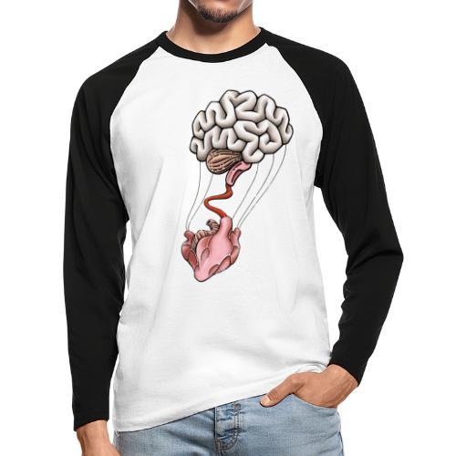 Herz & Hirn - Männer Baseballshirt langarm