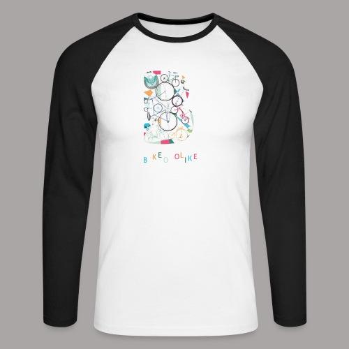 Bikeoholiker Tshirt für Frauen - Männer Baseballshirt langarm