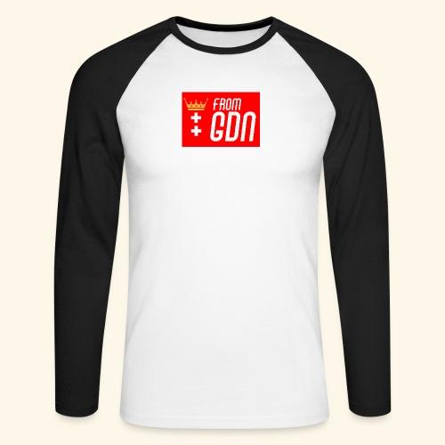 #fromGDN - Koszulka męska bejsbolowa z długim rękawem