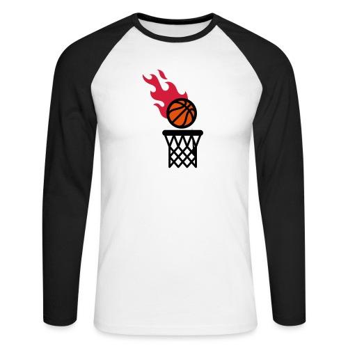 fire basketball - Men's Long Sleeve Baseball T-Shirt