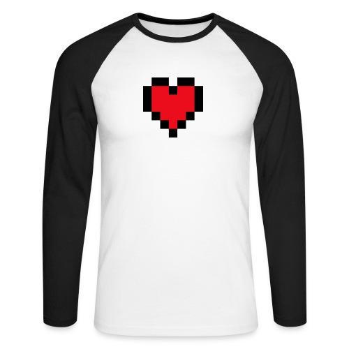 Pixel Heart - Mannen baseballshirt lange mouw