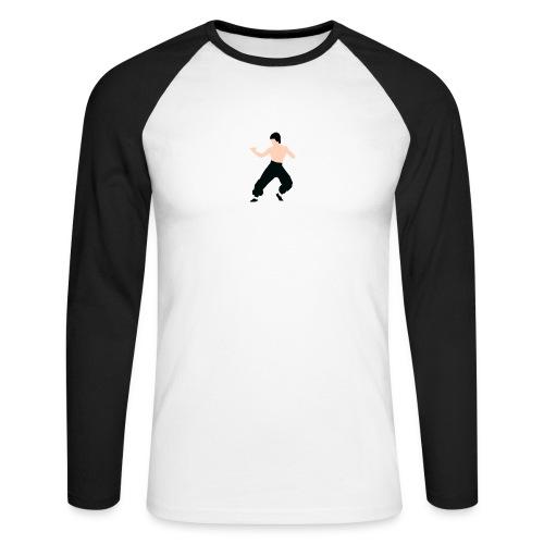 Bruce lee Kampf Pose - Männer Baseballshirt langarm